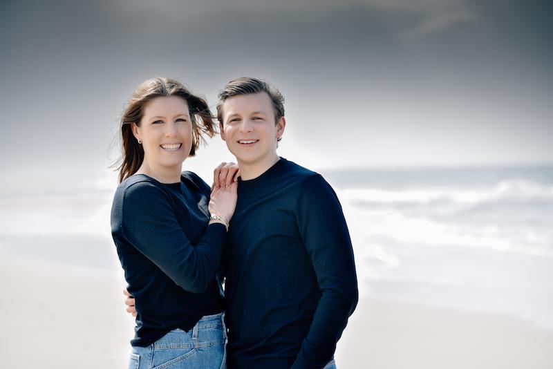 Elisa und Gerrit am Strand